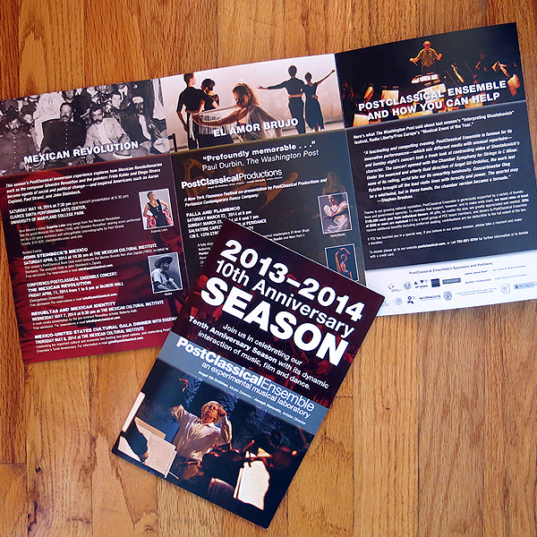 PostClassical Ensemble 2013-14 Season Brochure